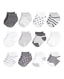 Baby Girls and Boys Organic Cotton Socks, 12 Pack
