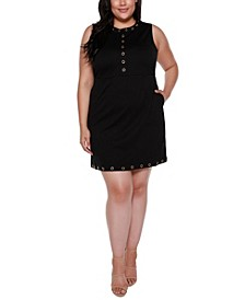 Black Label Plus Size Embellished Sleeveless Fitted Dress