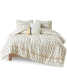 Auden Full/Queen Cotton Jacquard Comforter, Set of 5