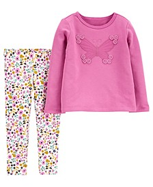 Baby Girl Butterfly Top and Floral Legging Set