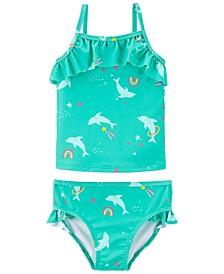 Baby Girls Dolphin Tankini, 2 Pieces