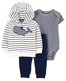 Baby Boys Whale Little Jacket Set, 3 Pieces