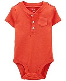 Baby Boy Henley-Style Bodysuit