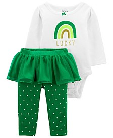 Baby Girl St. Patrick's Day Bodysuit and Tutu Pant Set