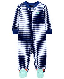 Baby Boys Monster Zip-Up Terry Sleep and Play One Piece