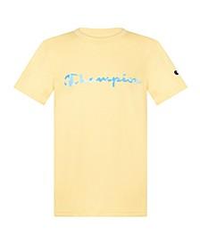 Big Boys Camo Fill Script Jersey T-shirt