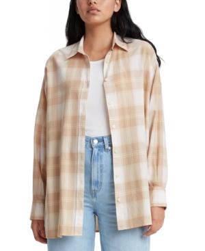 Levi's Quinn Cotton Plaid Shirt In Nada Plaid Safari
