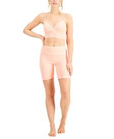Bralette & Biker Shorts, Created for Macy's