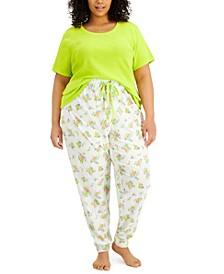 Plus Size Sleep T-Shirt & Jogger Pants, Created for Macy's