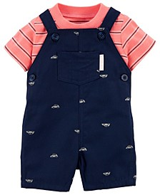 Caret's Baby Boys Car Tee and Shortall Set, 2 Pieces