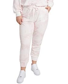 Trendy Plus Size Tie-Dyed Drawstring Jogger Pants