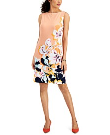 Placed-Print Shift Dress, Created for Macy's