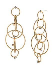 Stone Rings Chandelier Earrings
