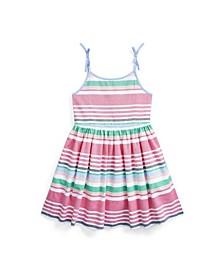 Toddler Girls Striped Oxford Dress
