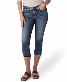 Trendy Plus Size Elyse Mid-Rise Capri Jeans