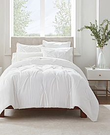 Serta Simply Clean Antimicrobial Pleated Full and Queen Comforter Set, 3 Piece