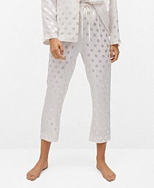Women's Polka-Dot Satin Pajama Trousers