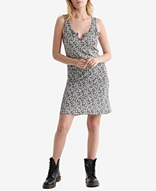 Women's Scallop Notch Midi Dress
