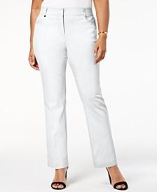 Plus & Petite Plus Size Tummy Control Curvy-Fit Pants, Created for Macy's