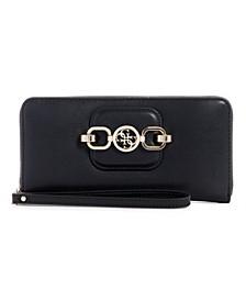 Hensely Large Zip Around Wallet Wristlet