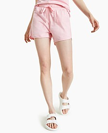 Plus Size Cotton Cutaway Drawstring Shorts, Created for Macy's