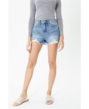 Women's High Rise Mom Fit Shorts