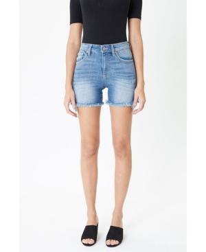 Women's High Rise Frayed Hem Shorts