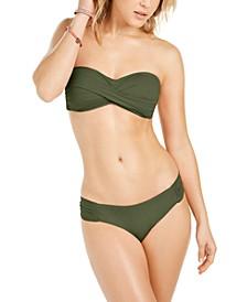 Twisted Bandeau Bikini Top & Side-Shirred Bottoms, Created for Macy's