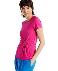 INC Ponté-Knit Twist Top, Regular & Petite Sizes, Created for Macy's