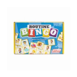 Junior Learning Routine Bingo Match and Learn Educational Learning Game