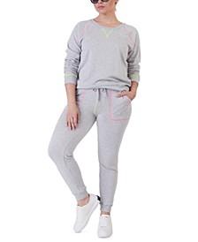 Plus Size Neon Stitch Jogger Pants
