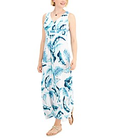 Petite Floral-Print Maxi Dress, Created for Macy's