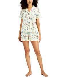 Cotton Swiss Dot Shorts Pajama Set, Created for Macy's