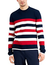 Men's Striped Sport Crewneck Sweater