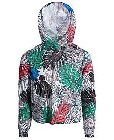 Big Girls Palm-Print Mesh Hoodie, Created for Macy's