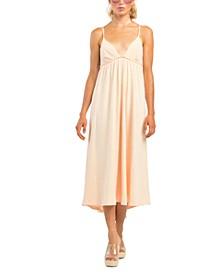 Textured Empire-Waist Dress