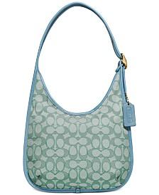 Ergo Medium Shoulder Bag In Signature Jacquard