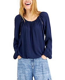 INC Solid Peasant Top, Created for Macy's