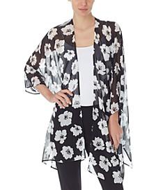 Printed Sheer Kimono