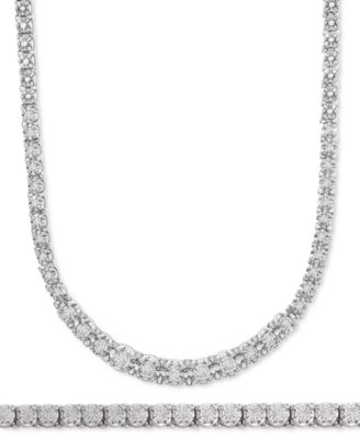 Diamond Link Tennis Bracelet (1 ct. t.w.) in Sterling Silver, Created for Macy's