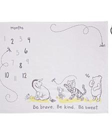 Classic Winnie The Pooh Super Soft Milestone Baby Blanket Set, 2 Piece