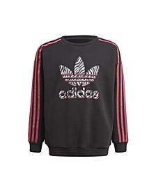 Big Girls Graphic Print Crew Sweatshirt