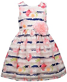 Big Girls Sleeveless Burnout Organza Party Dress