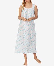 Sleeveless Cotton Ballet Nightgown