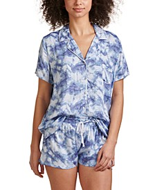 Women's Notch Collar Shortie Pajama Set, Online Only