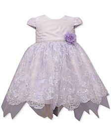 Baby Girls Lavender Embroidered Dress