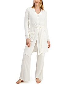 Luxe Ribbed Wrap Robe, Created for Macy's