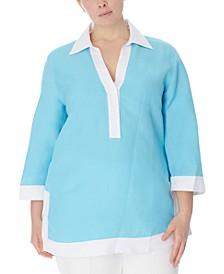 Plus Size Colorblocked Tunic