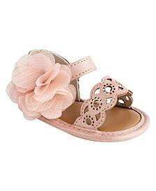 Baby Girls Chiffon Flower Sandal