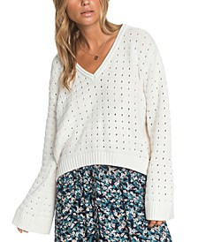 Juniors' Do You Good Flare-Sleeve Sweater